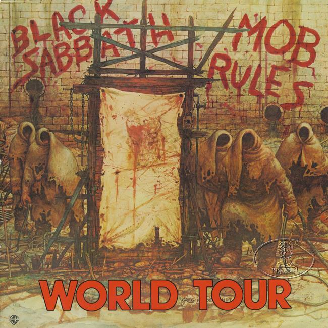black sabbath 1981 mob rules tour concert program book programme ebay. Black Bedroom Furniture Sets. Home Design Ideas