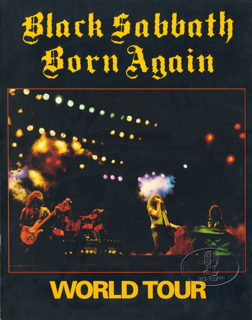 black sabbath 1982 83 born again tour concert program tour book ebay. Black Bedroom Furniture Sets. Home Design Ideas